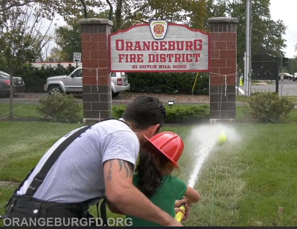 Aiming the hose